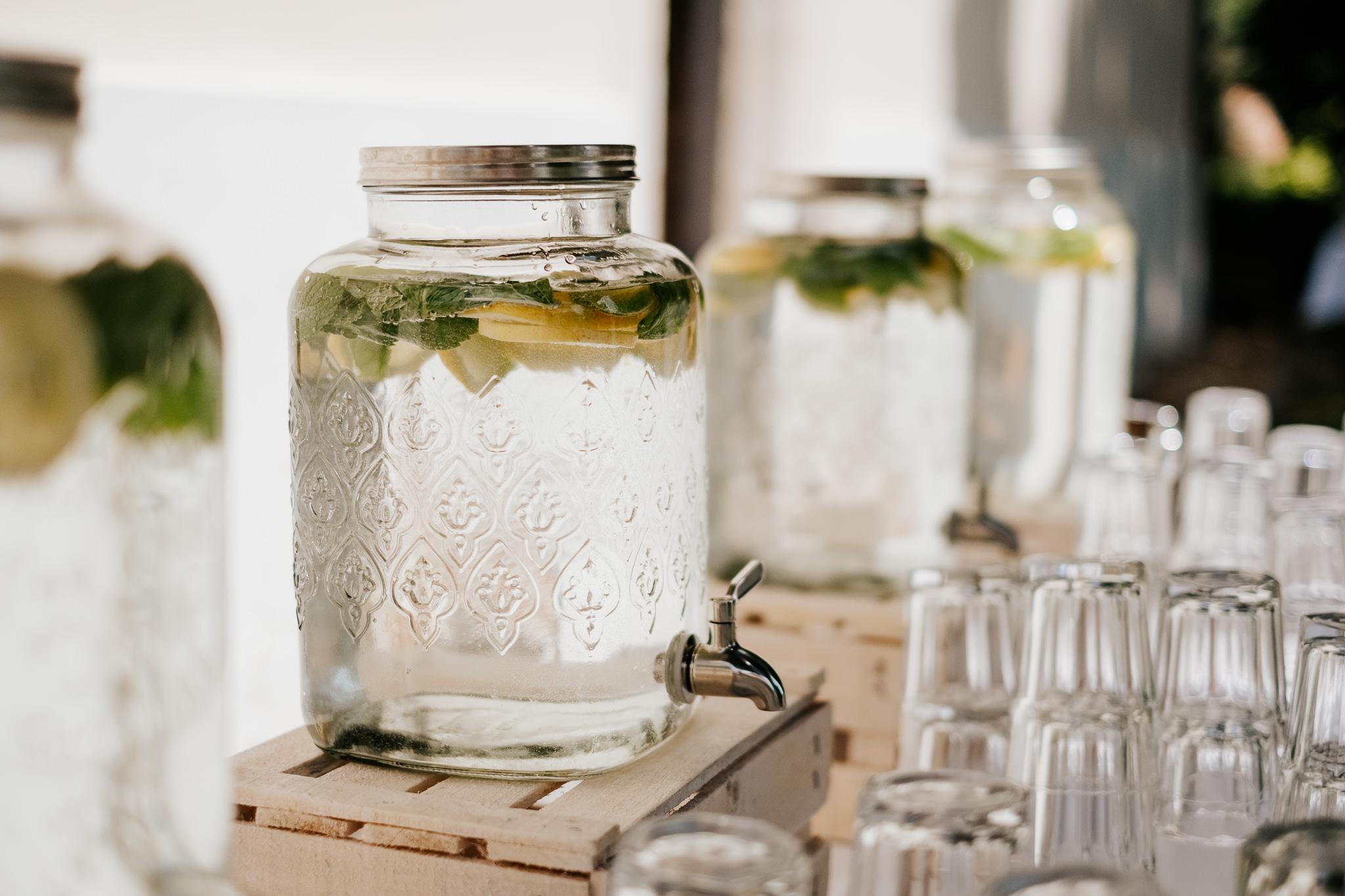 Esküvői catering citromos frissítő
